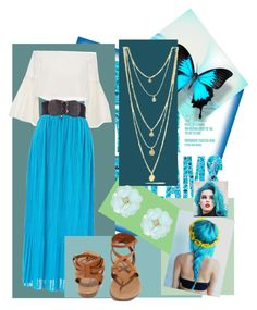 """""""Blue overload 💙🌀🔷"""" by imcute1550 on Polyvore featuring Rosetta Getty, Dettagli and Breckelle's"""