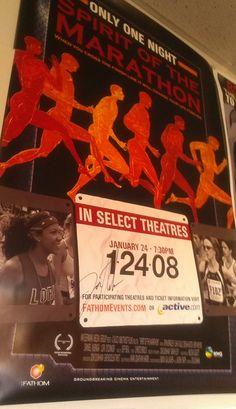 movie poster of 'Spirit of the Marathon' ... good blend design ...