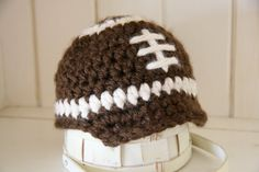 Football Brimmed beanie by cottoncorner on Etsy