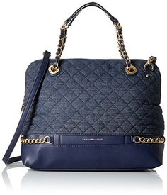 Tommy Hilfiger Cassidy Satchel, Denim ** Details can be found by clicking on the image.