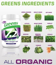 7.2 Greens = All organic and delicious!  Craigandpam.sevenpoint2.com