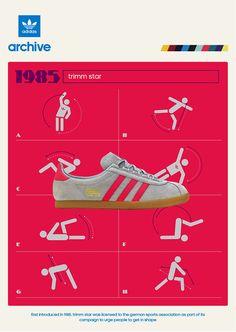 adidas Originals Trimm Star and Trimm-Trab - size? Adidas Zx, Adidas Samba, Adidas Logo, Adidas Shoes, Adidas Superstar Vintage, Adidas Busenitz, Adidas Spezial, Adidas Retro, Vintage Ads