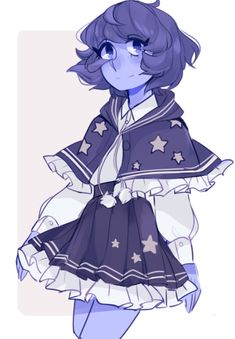 "anyadraws:  "" lapis in a cute outfit  """