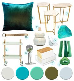 Design Sponge color palette blues and greens  Paint colors  left to right   WisdomSherwin Williams green paint color   Gecko  SW 6719    On the Hunt  . Green Paint Color Palette. Home Design Ideas
