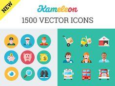 Kameleon - 1500 Flat Icons