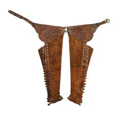 Mexican Chaparejos with Mexican Revolution History - High Noon Western Americana Mexican Revolution, Initial M, Cowboy Gear, Charro, Cowboys And Indians, Mexicans, Equestrian Outfits, Yesterday And Today, Silver Work