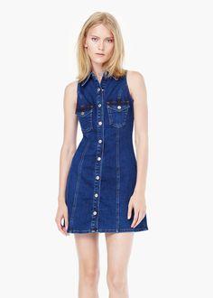 Pocket denim dress - Dresses for Women | MANGO