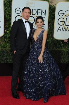 Jenna Dewan Tatum and Channing Tatum at the 73rd Annual Golden Globes Awards