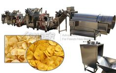 This automatic potato chips making machine is suitable for small scale business, also ideal production line suitable for making banana chips. Banana Chips, Banana Slice, Stainless Steel 304, Stainless Steel Material, Fryer Machine, Green Banana, Packaging Machine, Making Machine, Apple Slices