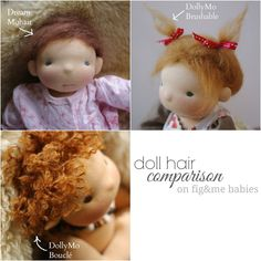 Doll hair comparison, by Fig&me