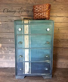 Excited to share this item from my shop: Waterfall dresser Loft Furniture, Furniture Showroom, Home Decor Furniture, Shabby Chic Furniture, Rustic Furniture, Furniture Making, Furniture Makeover, Antique Furniture, Painted Furniture