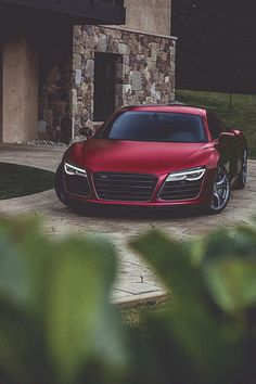 Dark Maroon Audi R8❤️❤️❤️ this color!!:D :D :D would love to get it in that color❤️ number one dream car, super car, luxury car, sports car❤️