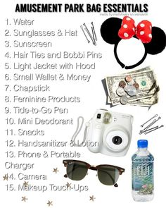 Amusement Park Bag Essentials made by me! - Amusement Park Bag Essentials made by me! ❣🎡 Amusement Park Bag Essentials made by me! ❣🎡 This image has get Source by - Disney World Packing, Disney World Vacation Planning, Walt Disney World Vacations, Trip Planning, Disney World Backpack, Disney World Outfits, Travel Packing Checklist, Travel Bag Essentials, Road Trip Packing