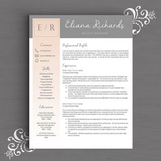 stylish and modern resume template the sophie microsoft word