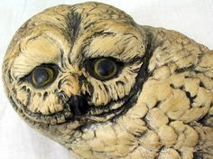 Owls Vintage 1970s Wall Hanging Pair of Hooters by bythewayside, $20.00