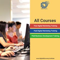 Who needs to enhance their marketing skills, we have the best industry to validate training programmers to support at every phase of your marketing career. With these courses, learn about Pay per click, Content writing,  social media strategy etc.  Get started with Digital discovery institute courses today ! #digitalmarketing #sales #advertising #branding #smm #jobs#Digitalmarketinginstitute #entrepreneur #learndigitalmarketing#marketingstrategy Content Marketing, Digital Marketing, Discovery, Entrepreneur, Career, Advertising, Branding, Social Media, Train