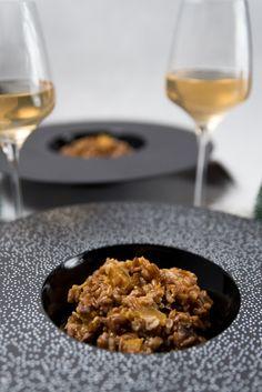Risotto d'épeautre : butternut, châtaignes, champignons - Mes gougères aux épinards Risotto, Couscous, Quinoa, Cereal, Veggies, Cooking, Breakfast, Blog, Inspiration