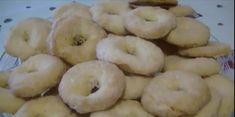 Τραγανά και μυρωδάτα Λευκά μπισκότα κρασιού Bagel, Doughnut, Bread, Cookies, Desserts, Food, Biscuits, Deserts, Cookie Recipes