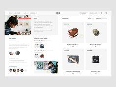 Grid - Designer of the Month (Concept Project) by Vivek Ravin - Dribbble Interaktives Design, Best Ui Design, Design System, Graphic Design, Clean Design, Website Design Layout, Web Layout, Website Design Inspiration, Ui Inspiration