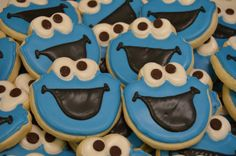 Cookie Monster Sugar cookies Cookie Monster by TrueConfectionsbyB