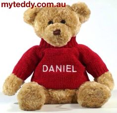 Theses are so cute. Personalised teddy bears.