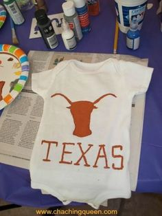 DIY Theme Baby Shower Party Activity Idea – Decorate Baby Clothes for a gift, too #crafts #babyshower