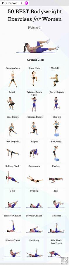 3. 50 Best #Bodyweight Exercises for #Women, Volume 2 - Skip the Gym with #These 24 Bodyweight Exercises You Can do #Anywhere ... → #Fitness #Minute