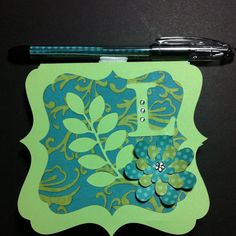 """CTMH, Art Philosophy Cart and Dotty Paper. 4"""" Sticky Pad Holder."""
