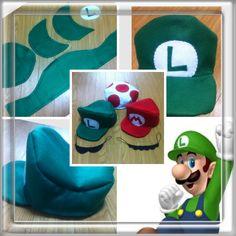 第2弾☆ルイージの帽子とヒゲの作り方|帽子|ファッション小物|ハンドメイドカテゴリ|アトリエ