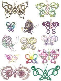 Frywolitki Książki: znakomity Kolekcja tatted Motyle II przez Sherry pensa