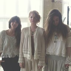 .@Penny Douglas People | Our blog team all in white and lace today #freepeople #bldg25 #officestyle