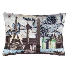 Christian Lacroix/ embroidered graphic cushion
