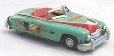 Vintage 1950's Tin Convertible Texas Cowboy Made in Japan
