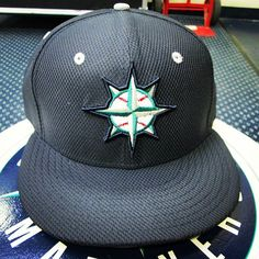 2013 Seattle #Mariners BP Cap, available at Team Stores on 2/22.