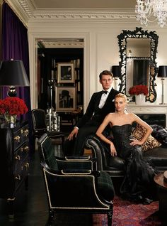 Ralph Lauren is known for timeless menswear references. Here is inspiration from Ralph Lauren Home's latest Collection Explore The Collection. Glamour, Style Anglais, Fall Collection, E Book, Black Tie Affair, Provocateur, Razzle Dazzle, Party Tops, Foto Pose