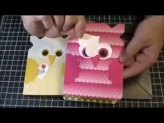 Owl Card using Envelope Punch Board - YouTube                                                                                                                                                      More