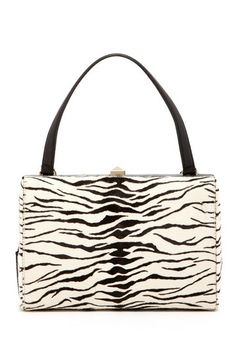 Valentino Zebra Print Studded Lock Handbag by MSA Haute Couture Inc on @HauteLook