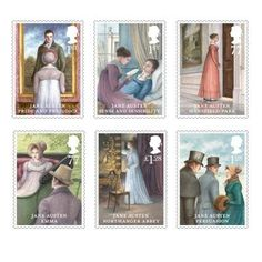 Jane Austen Stamp Set-- out Feb 2013 to commemorate Pride & Prejudice's bicentennial