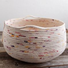 Handmade, Hand Painted Rope Basket, Large, as seen on the TODAY Show