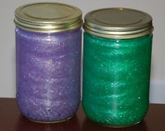 Calm Down glitter jars #2! IMHO I really don't see giving an angry tot a glass jar...but an empty plastic PB jar should do the trick.