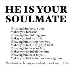 Your my soulmate babe #soulmatefacts