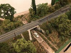 N Scale Train Layout, Model Train Layouts, N Scale Model Trains, Scale Models, Diorama, Kato Unitrack, Pretty Landscapes, Ho Trains, Railroad Tracks