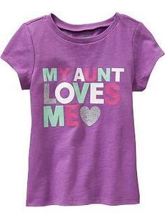 """My Aunt Loves Me"" Tees for Baby"