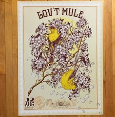 Just added this poster for a recent Gov't Mule show to my shop. Trying to post finished work more. :3 http://www.ericawilliamsillustration.com/store-front/ #govtmule #stonepony #screenprint  Printed by @triplestamppress