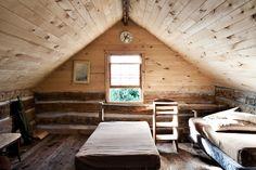 Hunting cabin loft in Northwestern Wisconsin.     Photo by Stephanie Schuster