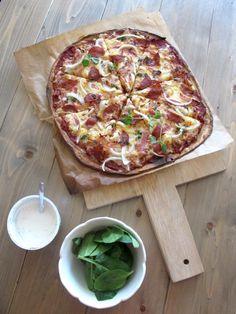2015-02-03 13.37.12 Hawaiian Pizza, I Love Food, Vegetable Pizza, Pesto, Diet, Vegetables, Cooking, Recipes, Pai