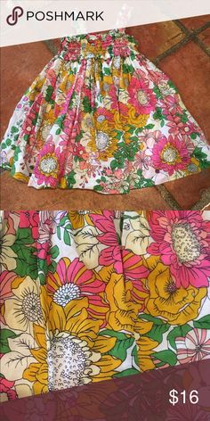 Baby Gap Floral Dress Sweet floral dress with a second layer underneath that gives lots of volume. Both layers are super soft cotton. Smoke and pet free home. GAP Dresses Casual