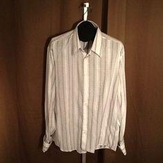 Men's Ben Sherman french cuff casual shirt sz 4/XL