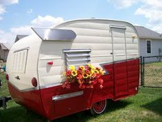 """""""Sometimes I wish I lived in an Airstream, home made curtains, lived just like a gypsy""""   1962 Shasta Compact Trailer"""