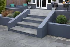 Casarta Slate Garden Steps - All About Garden Slabs, Slate Garden, Patio Slabs, Garden Paving, Slate Patio, Patio Tiles, Garden Paths, Modern Garden Design, Backyard Garden Design